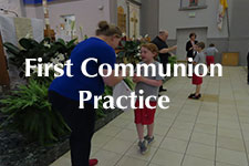 2019 First Communion Practice
