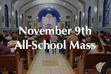 2018 November 9th All-School Mass